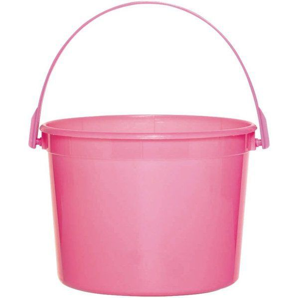 Check out Bright Pink Plastic Bucket - Bargain Party Favors Supplies and Decorations from Wholesale Party Supplies