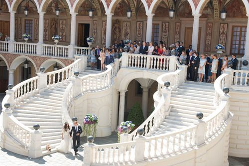 A royal wedding with a fashionable difference….. Andrea Casiraghi weds Tatiana Santo Domingo
