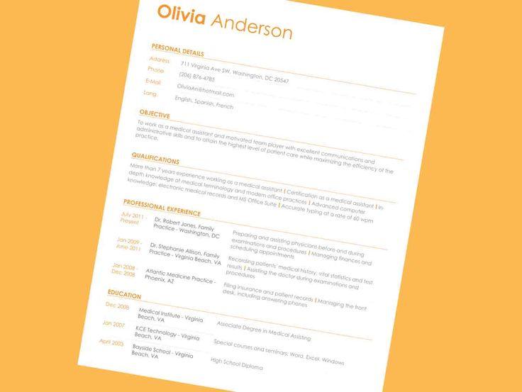 134 best best resume template images on pinterest