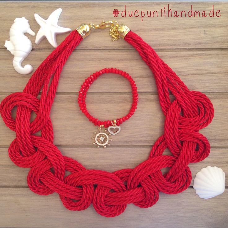 #duepuntihandmade #handmade #necklaces #summer #red #diy