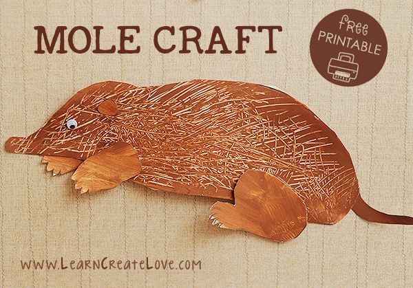 Mole Printable Craft