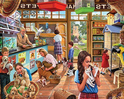Pet Shop - 1000 Piece Puzzle-White Mountain Puzzles