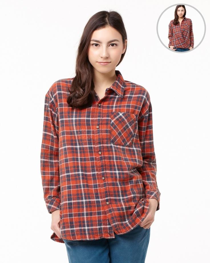 JOURNAL STANDARD WOMENS TOPS & KNITS レッド×ネイビー  チェック2WAYコットンシャツ