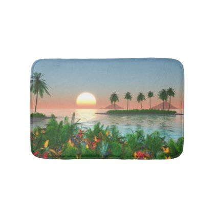 Color of Tropic Bath Mat -nature diy customize sprecial design