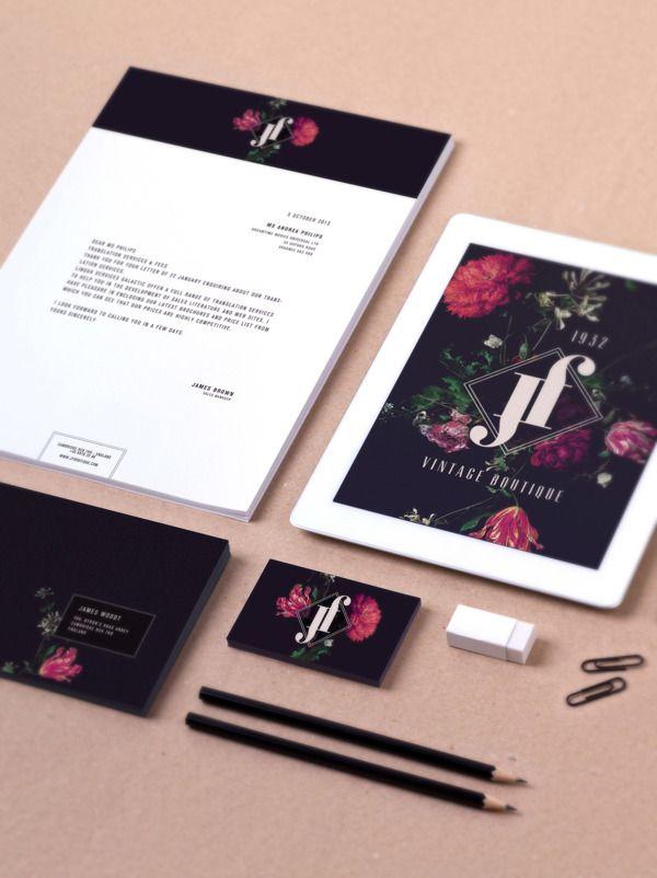 JF BOUTIQUE - Brand Identity by Valeria Santarelli, via Behance