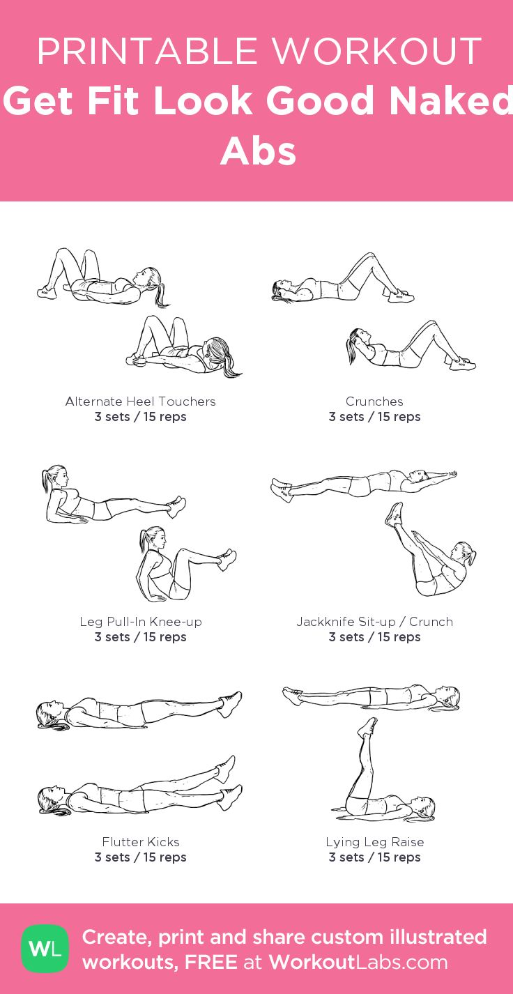 Get Fit Look Good Naked Abs: my custom printable workout by @WorkoutLabs #workou… – Workout
