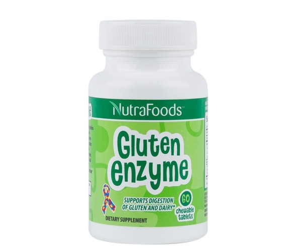 NutraFoods Gluten Enzyme– Berry Flavor-  60 Chewable Tablets