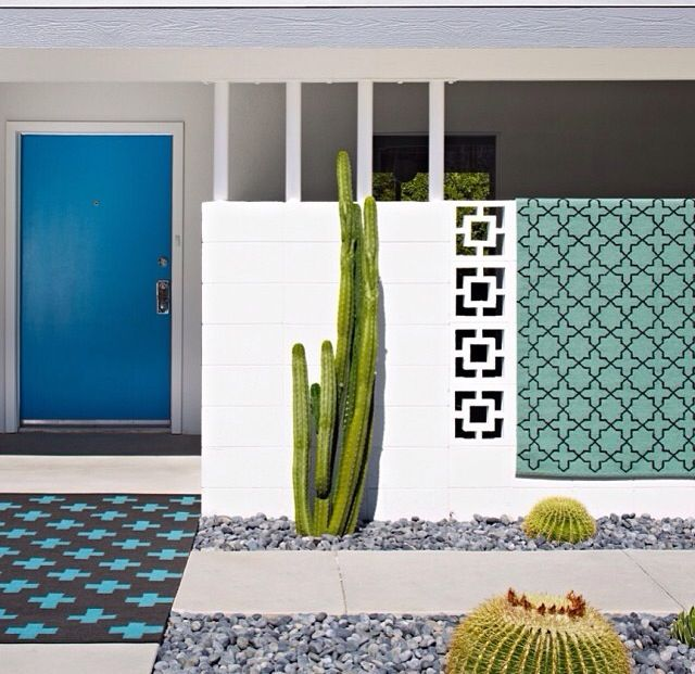 Palm Springs | modern | entranceway | landscaping | cactus