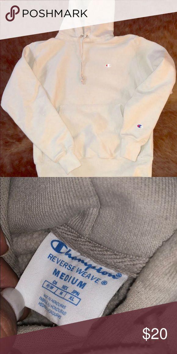 Tan/Cream Champion Hoodie Tan/Cream Champion Hoodie Champion Tops Sweatshirts & Hoodies