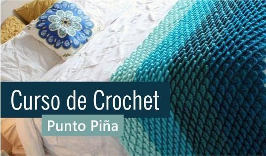 Cómo se hace el punto piña. ¡Ideal para bolsos y mantas! Puedes crear una textura acolchada.
