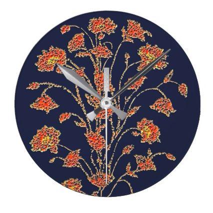 Antique Floral Clock