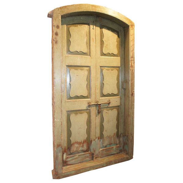 Anglo Indian Painted Teak Arched Double Door with Frame c. 1860 - 12 Best Antique Indian Doors Images On Pinterest Indian Doors