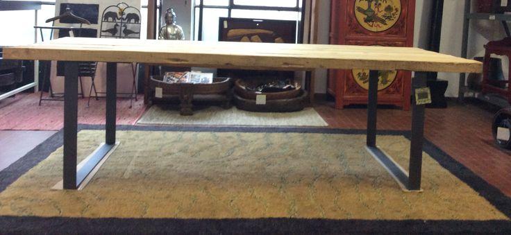 tavoli da pranzo 300 x 100 vecchie tavole in olmo