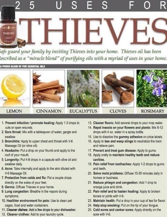 I use my Essential Oil Blend, Thieves, every day! Love it! #essentialoils