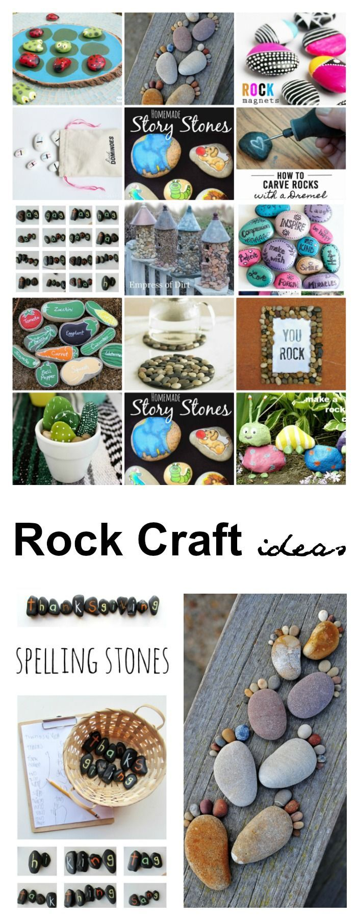 crafts |  Rock Craft Ideas are a perfect Spring and Summer activity!  We love to collect rocks during our travels or when we are camping.