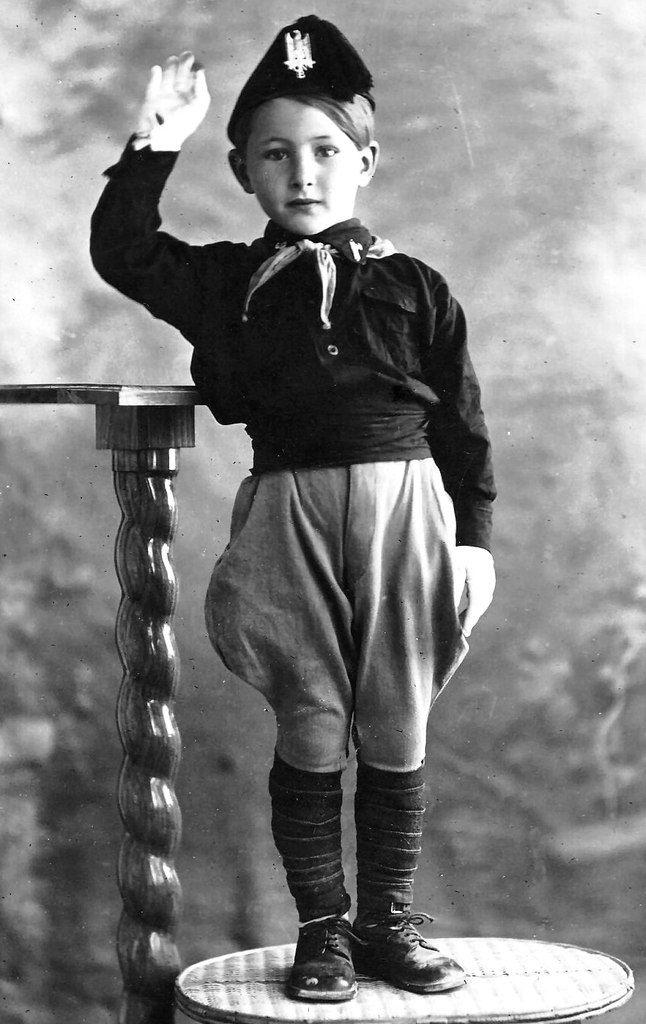 An Italian boy in Fascist regalia