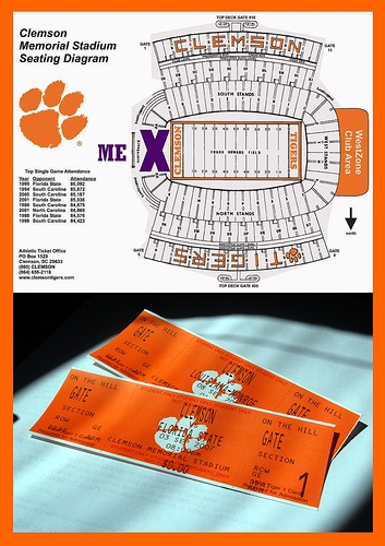 First Clemson Football Tickets