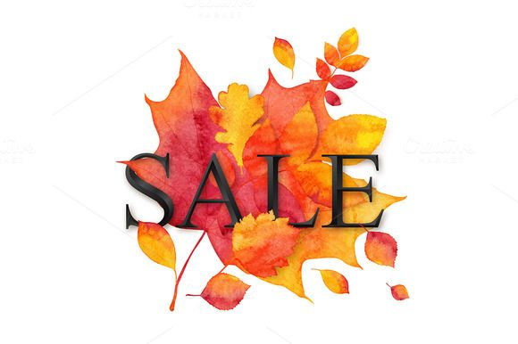 EPS+JPG+PNG watercolor autumn SALE by Art-of-Sun on @creativemarket