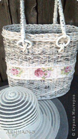 Поделка изделие Плетение Cумка- торба Бумага газетная Картон Салфетки Трубочки бумажные фото 3