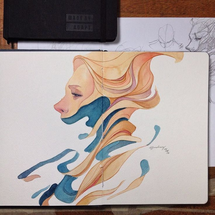 cotman W&N on 300gsm watercolor sketchbook @madebyadapt by elfandiary