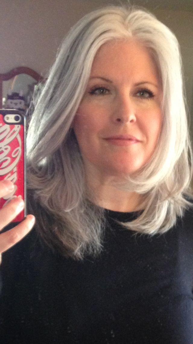Silver hair nude