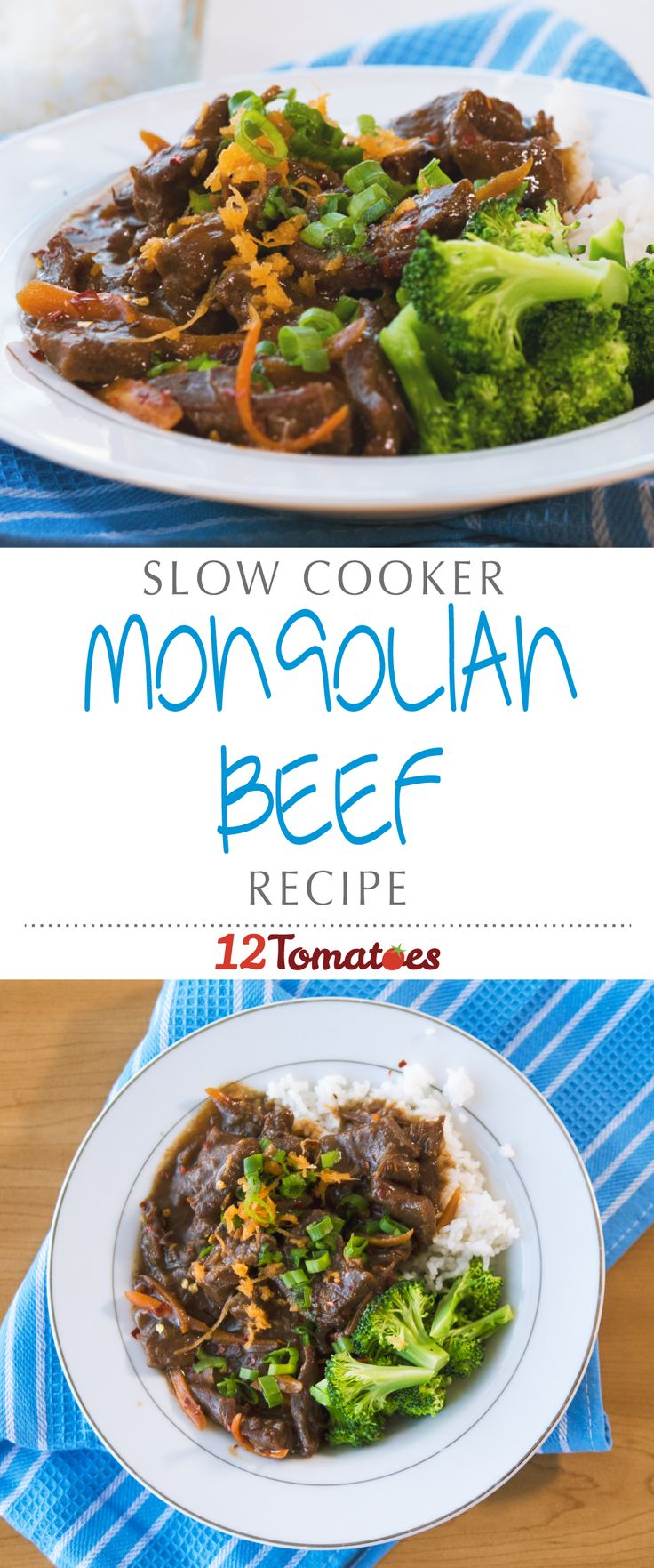 Slow Cooker Mongolian Beef | The beef comes out perfectly cooked, and the brown sauce gives any Chinese restaurant a run for their money!