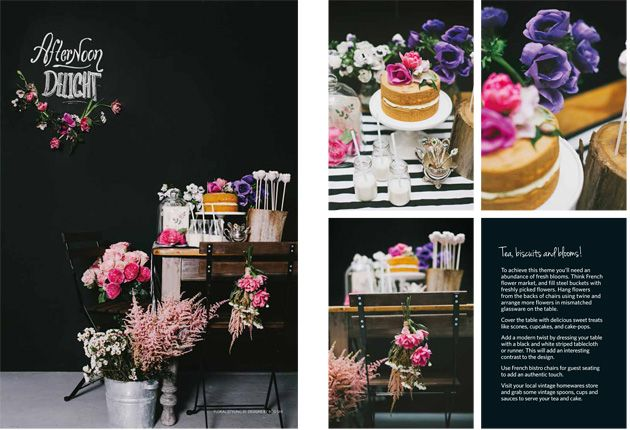 Featured in Hitched Magazine » DIY Pop-Up Parties, chalkboards and styling by @Melissa Simonetta, flowers by @Designs by Boo Shi, photography by @Willow & Co.