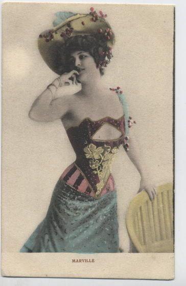 Marie Marville | N1044 Marville Paris Nightclub Dancer Vaudeville RPPC | eBay