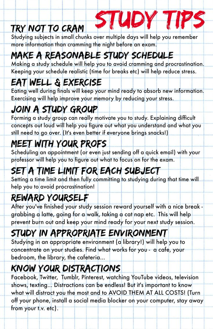 College study skill hints