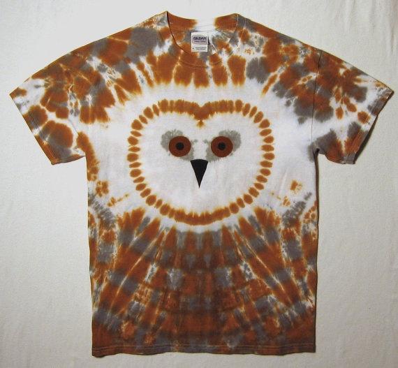 Tie Dye Shirt Wise Old Owl Adult Medium by tiedyedmonkeys on Etsy, $29.99