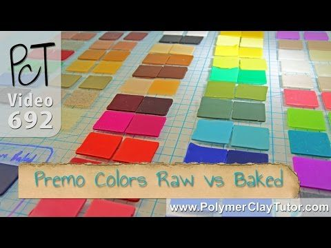 Raw vs Baked Color Shifts Premo Sculpey Polymer Clay