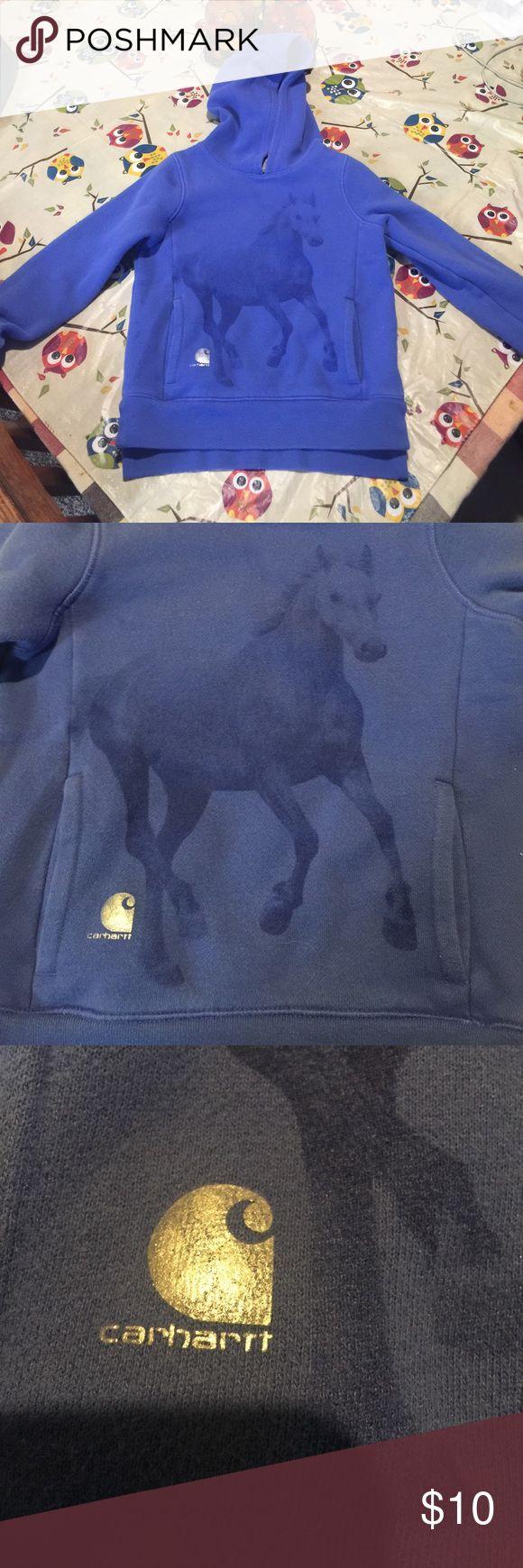 Horse sweatshirt!! Like new supreme condition carhartt sweatshirt Carhartt Shirts & Tops Sweatshirts & Hoodies