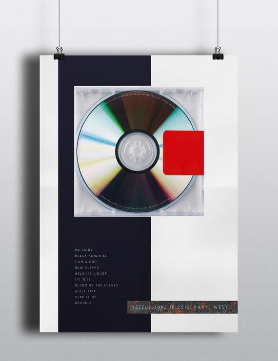 Kanye West Yeezus Original Album Artwork Poster Or Art Print In 2020 Kanye West Yeezus Yeezus Wall Collage