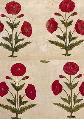 floorspread, painted and dyed cotton, late 17th-early18th cent.