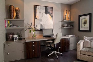 Masculine contemporary home office