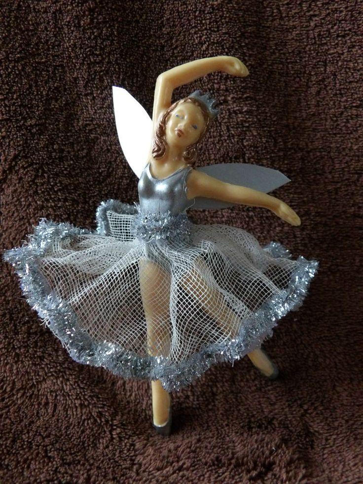 Vintage 50 39 s dibro style plastic fairy ballerina doll for Ballerina christmas tree decoration
