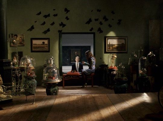 """Room from the movie """"Penelope"""". I'm in love with the whimsical wardrobe and style of the set."""