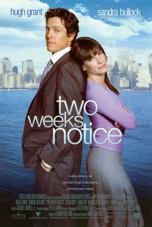 two weeks notice!