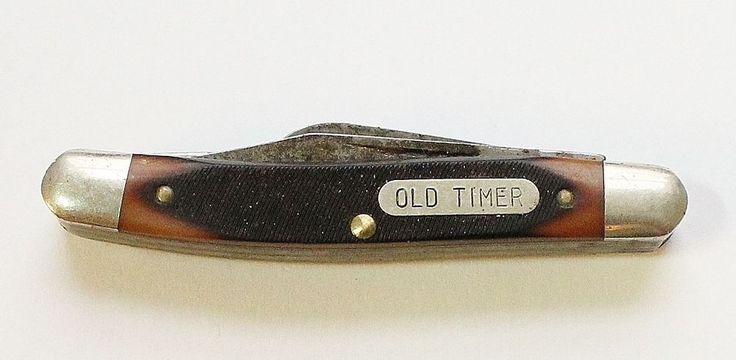 Vintage Schrade USA OLD TIMER Pocket Knife