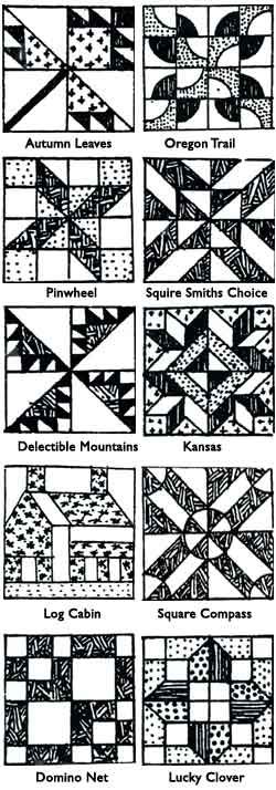 sample quilt blocks