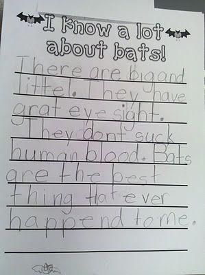 Fun in First Grade: More Bat Activities
