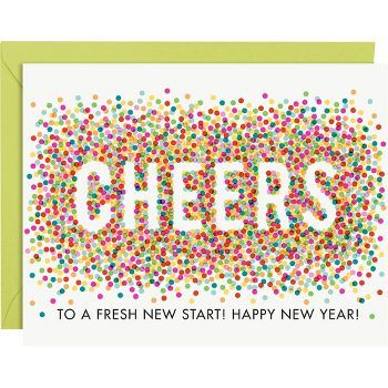 Confetti Cheers New Year Cards from @Amanda Harris Source