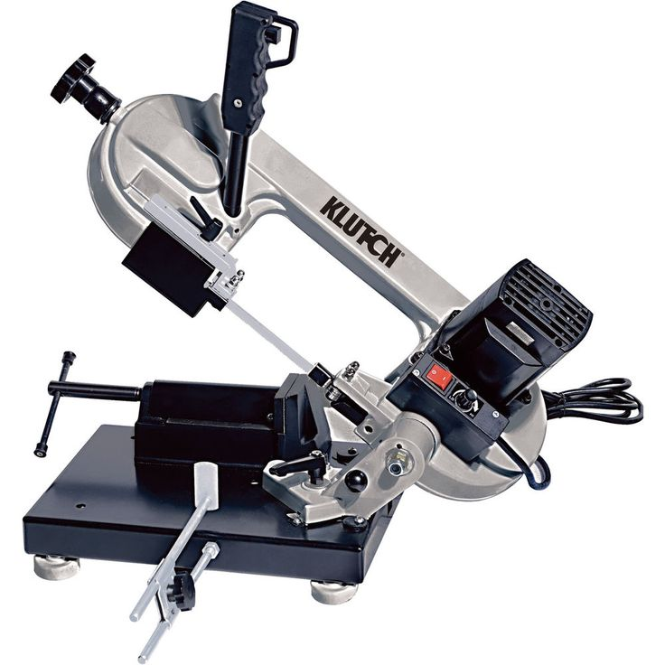 Klutch Benchtop Metal Band Saw - 3in. x 4in., 1 1/3 HP, 120V Motor #Klutch