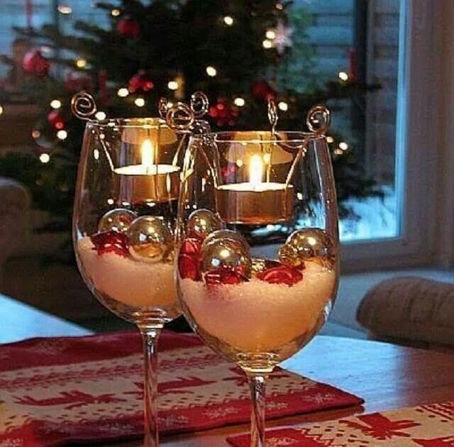17 best images about decoraci n con copas on pinterest - Centros de mesas navidenos ...