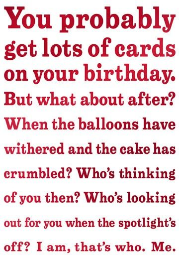 Sensitive and Late Belated Funny Birthday Card --- http://tipsalud.com -----