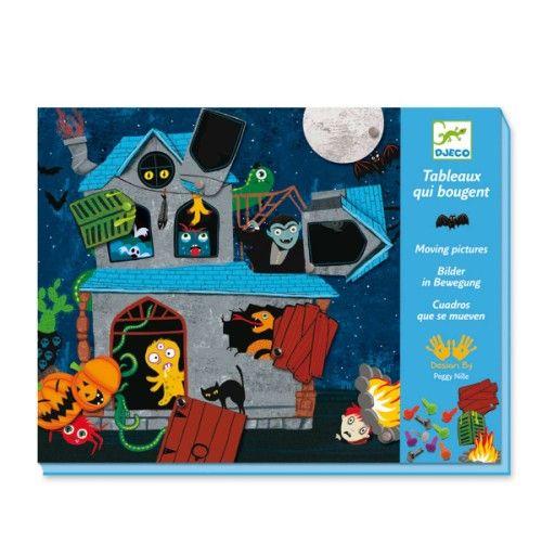Tableaux qui bougent La maison des horreurs Djeco pour enfant de 3 ans à 6 ans - Oxybul éveil et jeux