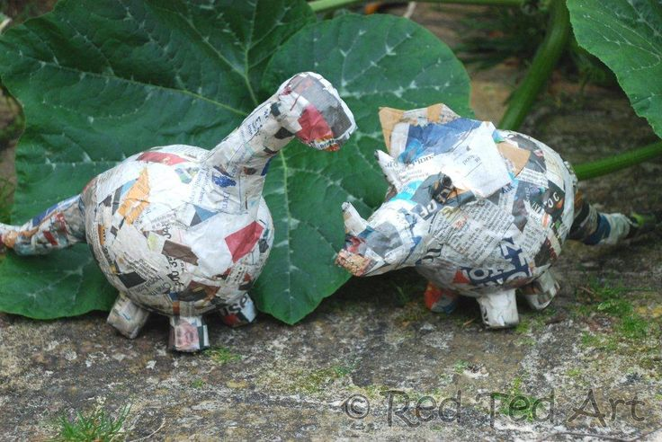 Kids Crafts: Paper Mache Dino Bank - Red Ted Art's Blog