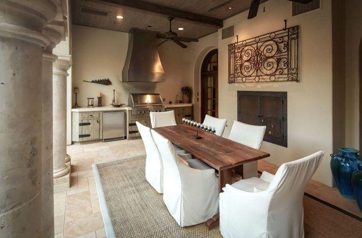 Bucatarie de vara casa stil mediteranean