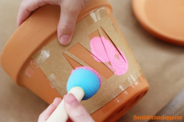 Mother's Day craft – monogram pots