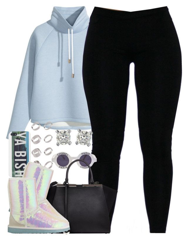 """""""Untitled #1267"""" by power-beauty ❤ liked on Polyvore featuring H&M, Chanel, Fendi, ASOS and UGG Australia"""